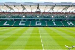 Leeg de voetbalstadion van Warschau van Legia Stock Foto
