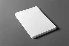 Leeg die boek op grijs wordt geïsoleerd Stock Foto