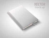Leeg die boek op wit wordt geïsoleerd om uw ontwerp te vervangen Vector illustratie Stock Foto's