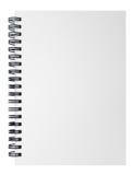 Leeg die notitieboekje op witte achtergrond, het knippen weginclu wordt geïsoleerd Royalty-vrije Stock Afbeelding