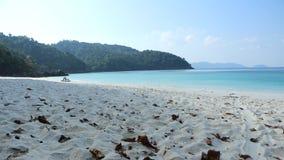 Leeg die strand van het zand wordt geschoten Royalty-vrije Stock Fotografie