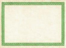 Leeg Document Stock Afbeelding