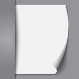 Leeg document blad. Stock Foto