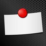 Leeg document blad vast door rode speldmagneet royalty-vrije illustratie