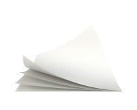 Leeg document leeg blad het 3d teruggeven op witte achtergrond Royalty-vrije Stock Afbeelding