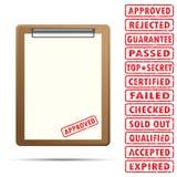 Leeg document met rubberzegel Royalty-vrije Stock Foto's