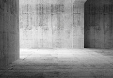 Leeg donker abstract concreet ruimtebinnenland Royalty-vrije Stock Foto's