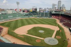 Leeg Fenway Park, Boston, doctorandus in de letteren Stock Afbeeldingen