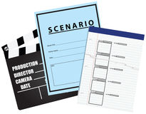Leeg film storyboard Scenario Royalty-vrije Stock Fotografie