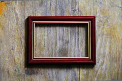 Leeg frame op houten achtergrond Stock Foto's