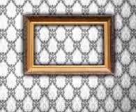 Leeg Frame op Uitstekend Behang Royalty-vrije Stock Afbeelding