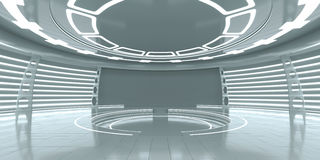 Leeg futuristisch binnenland Stock Afbeelding