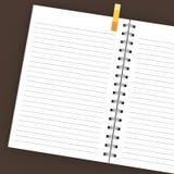 Leeg geïsoleerdn notitieboekje stock afbeeldingen