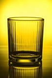 Leeg gefacetteerd glas royalty-vrije stock foto