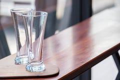 Leeg glas Stock Foto's