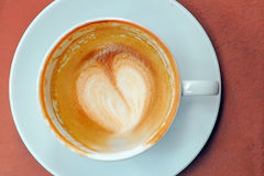 Leeg Glas Koffie Stock Foto