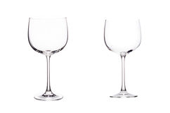 Leeg glas rode wijn. Stock Afbeeldingen