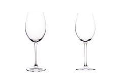 Leeg glas rode wijn. Royalty-vrije Stock Fotografie