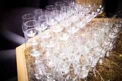 Leeg glas voor wijn Royalty-vrije Stock Afbeelding