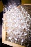 Leeg glas voor wijn Royalty-vrije Stock Foto