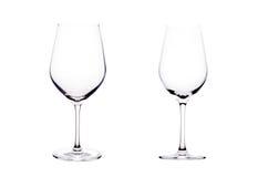 Leeg glas witte wijn. Royalty-vrije Stock Afbeeldingen