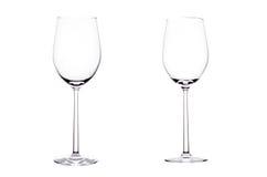 Leeg glas witte wijn. Stock Afbeelding