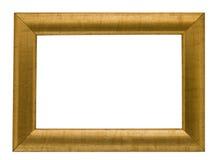 Leeg goud gekleurd frame, het knippen weg Royalty-vrije Stock Afbeelding