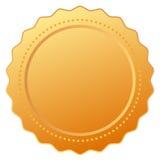 Leeg gouden certificaat stock illustratie