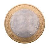 Leeg gouden en zilveren muntstuk Stock Afbeelding
