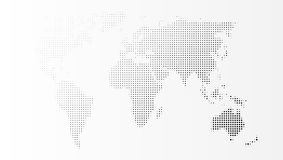 Leeg Grey Abstract World Map Template Royalty-vrije Stock Afbeelding