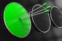 Leeg Groen Doel voor Uw Concept. Royalty-vrije Stock Afbeelding