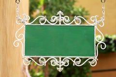 Leeg groen uithangbord Royalty-vrije Stock Foto