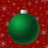 Leeg Groen Zilveren Ornament Royalty-vrije Stock Afbeeldingen