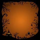 Leeg Halloween-kaartontwerp stock illustratie