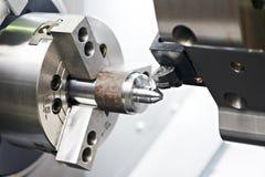 Leeg het machinaal bewerken van het metaal proces Stock Afbeeldingen