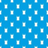 Leeg het patroon naadloos blauw van het vrouwenmouwloze onderhemd Royalty-vrije Stock Afbeeldingen