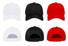 Leeg honkbal GLB 3 kleuren voor en achtermening Royalty-vrije Stock Foto's