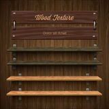 Leeg houten boekenrek Stock Fotografie
