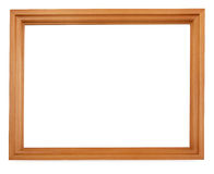 Leeg houten frame stock foto