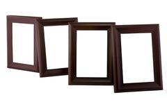 Leeg houten kader vier Stock Afbeelding