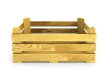 Leeg houten krat Royalty-vrije Stock Foto's