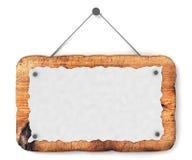 Leeg houten teken Stock Foto's