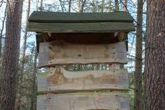Leeg houten uithangbord Stock Foto