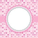 Leeg kader met hartachtergrond Royalty-vrije Stock Afbeelding