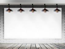 Leeg kader op bakstenen muur voor informatiebericht Stock Fotografie