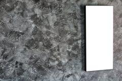 Leeg kader op concrete muur Royalty-vrije Stock Afbeeldingen