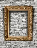 Leeg kader op een concrete muur. Royalty-vrije Stock Afbeelding