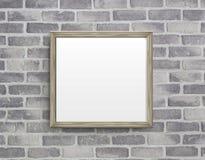 Leeg kader op grijze birckmuur Royalty-vrije Stock Foto