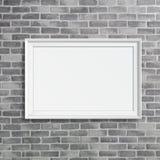 Leeg kader op grijze birckmuur Royalty-vrije Stock Afbeeldingen
