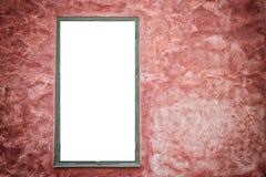 Leeg kader op rode muur. Royalty-vrije Stock Foto